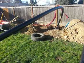 Before, During and After of a Main Sewer Line Trench Repair Tacoma, WA