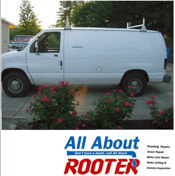 Plumbing parts, tools, and plans used by All About Rooter LLC.